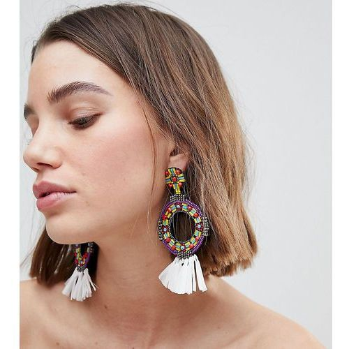 Glamorous multi circular statement earrings (+) - multi