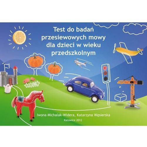 Test do badań przesiewowych mowy dla dzieci w wieku przedsz., oprawa broszurowa