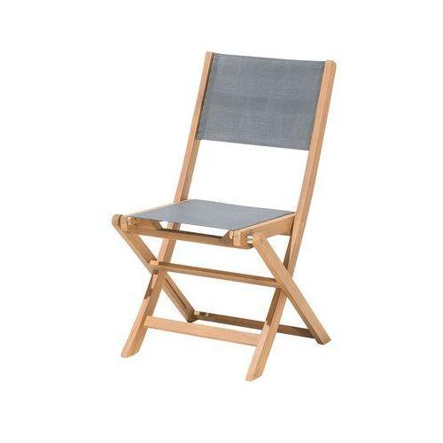 Krzesło ogrodowe drewniane textilene ciemnoszare CESANA
