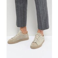 Selected homme premium suede trainers - beige