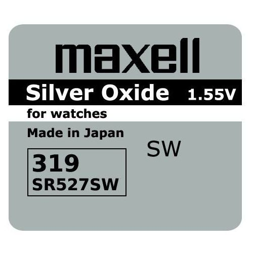 bateria srebrowa mini Maxell 319 / SR 527 SW