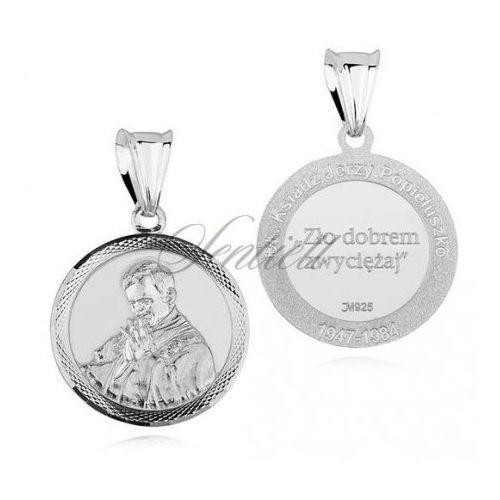 Sentiell Srebrny medalik pr.925 - błogosławiony ksiądz jerzy popiełuszko - md473