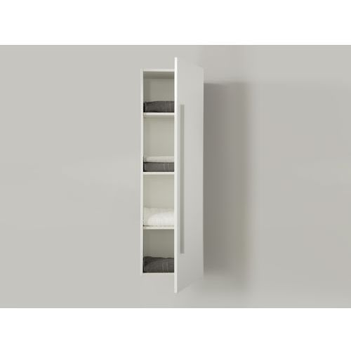 Meble łazienkowe - szafka wisząca łazienkowa biała - MATARO, kup u jednego z partnerów