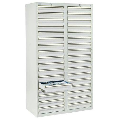 Stumpf-metall Szafka z szufladami, wys. x szer. x gł. 1800x1000x500 mm, 34 szuflady o wys. 100