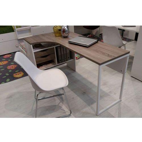 Function 118 biurko narożne biały/dąb trufla - dąb truflowy   biały, 8011849cj