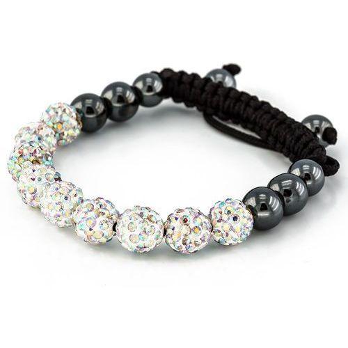 Bransoletka shamballa exclusive diamonds ab crystal - ab crystal marki Cloe