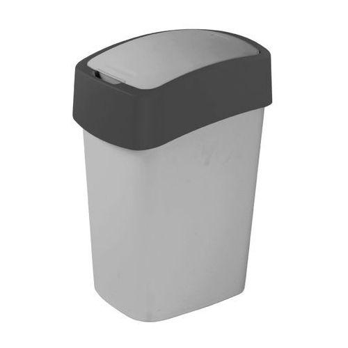 kosz na śmieci flip bin 10l - srebrny/grafit marki Curver