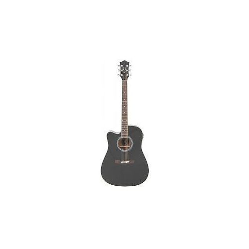 Chord CW36CE/LH Electro-acoustic guitar - L/H black, gitara elektroakustyczna leworęczna