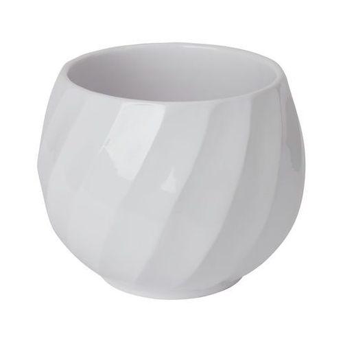 Doniczka ceramiczna GoodHome ozdobna 19 cm white swirl