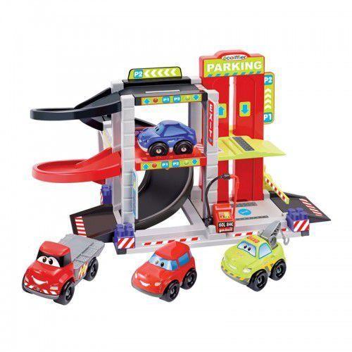 Tor wyścigowy Garaż Smoby Ecoiffier + 4 autka (3280250030430)