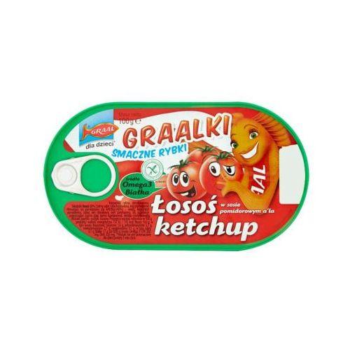 GRAAL 100g Graalki Łosoś w sosie pomidorowym a'la ketchup Dla dzieci