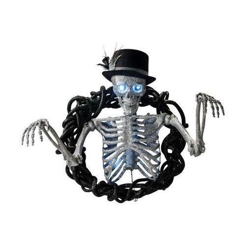 Wiszący szkielet z kapeluszem - 70 cm