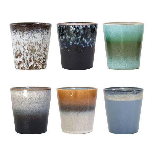 zestaw 6 kubeczków ceramicznych 70's - hk living ace6002 marki Hk living