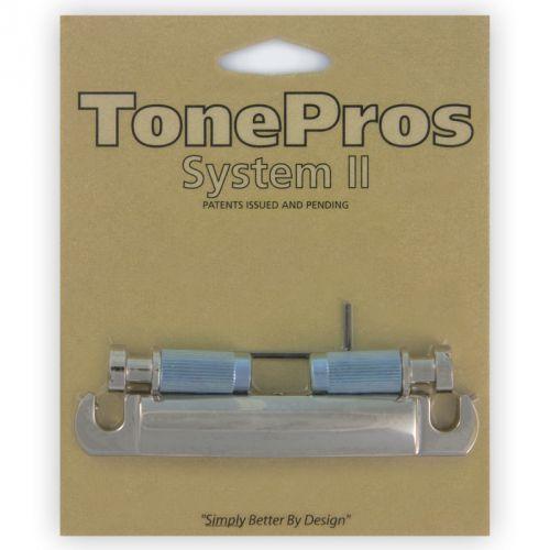 Tonepros t7z-n - tailpiece, 7-strun, części mostka do gitary, niklowane