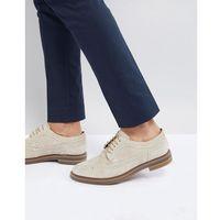 turner suede brogue shoes in beige - beige marki Base london