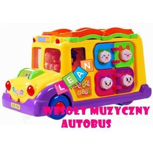 Lean toys Interaktywny bajkowy autobus dla malucha z muzyką (1818962267916)