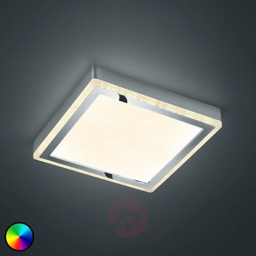 Lampa Sufitowa Reality SLIDE LED Biały, 2-punktowe, Zdalne sterowanie, Zmieniacz kolorów - Nowoczesny - Obszar wewnętrzny - SLIDE - Czas dostawy: od 3-6 dni roboczych (4017807407808)
