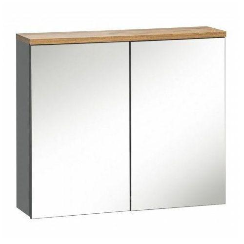 Szafka łazienkowa z lustrem - marsylia 6x grafit 80 cm marki Producent: elior