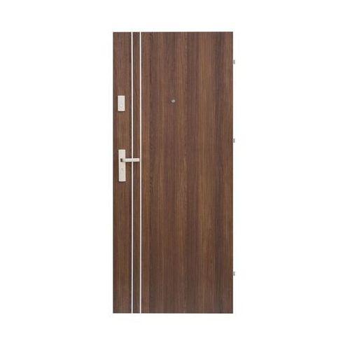 Domidor Drzwi wejściowe iryd 01 orzech premium 80 prawe