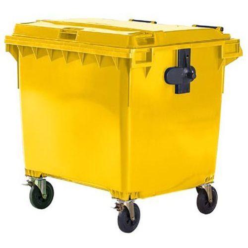 Schaefer group Duży pojemnik z tworzywa na odpady wg pn en 840, poj. 1100 l, żółty. wg din en 8