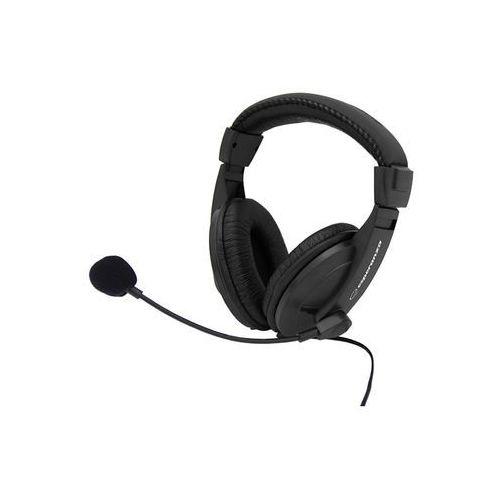 Esperanza Słuchawki stereo z mikrofonem i regulacją głośności eh103 | 2,5m (5905784767864)