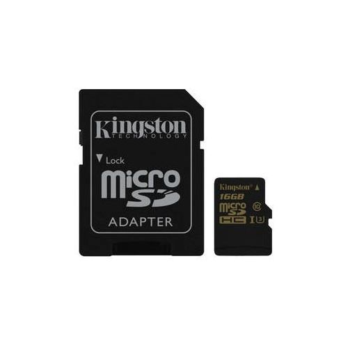 Kingston Karta pamięci microsdhc 16gb uhs-i u3 (90r/45w) + sd adapter (sdcg/16gb) czarna