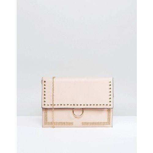 Yoki studded clutch bag - pink marki Yoki fashion