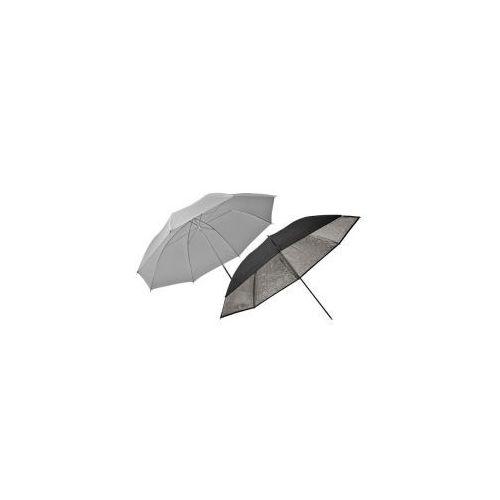 zestaw parasoli eco transparentny i srebrny 85cm wyprodukowany przez Elinchrom
