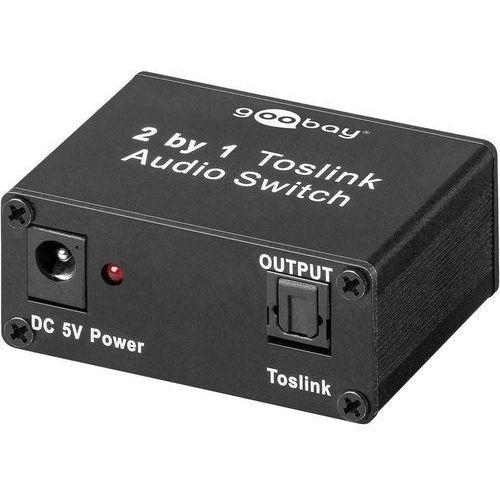 Goobay  przełącznik audio, toslink 1 wyjscie, 2 wejścia (67766) darmowy odbiór w 20 miastach! (4040849677663)