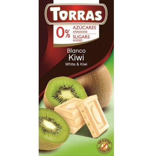 Czekolada biała z kiwi 75g - Torras (8410342007001)