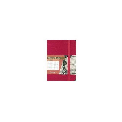 Antra Notes a7 z gumką seceska kratka różowy (5904210032194)