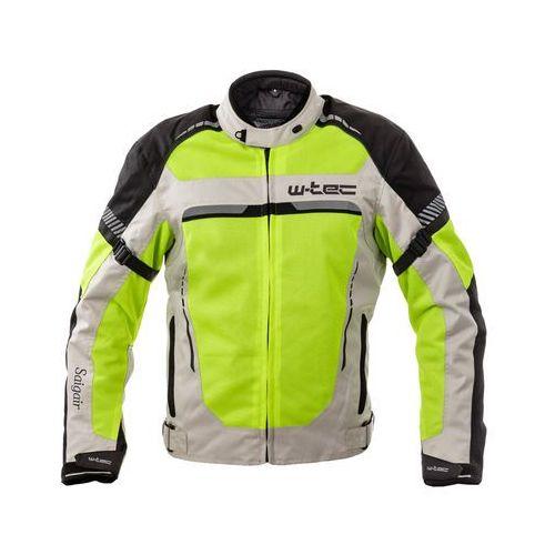 Męska kurtka motocyklowa letnia W-TEC Saigair, Fluo Yellow-Gray, 6XL, kolor żółty