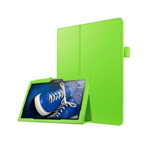Etui Stand Cover Lenovo Tab2 A10-30/ Tab 10 TB-X103 Zielone + Szkło - Zielony