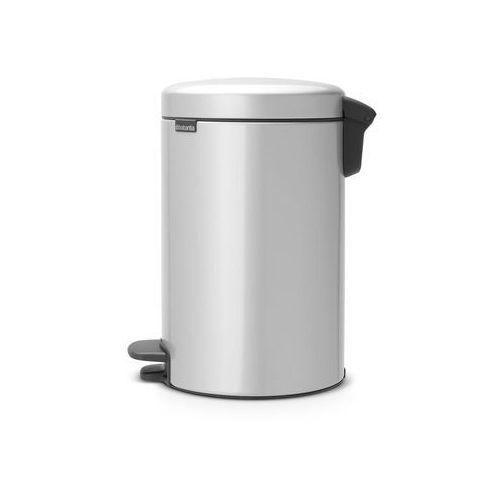 Kosz na śmieci pedałowy NewIcon 12l metaliczny szary