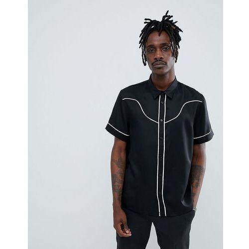 tonto western short sleeve shirt - black, Weekday, M-XL