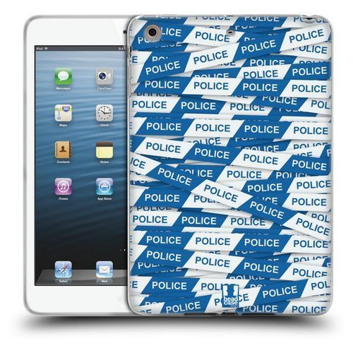 Etui silikonowe na tablet - WARNING TAPE BLUE POLICE LINE, kolor niebieski
