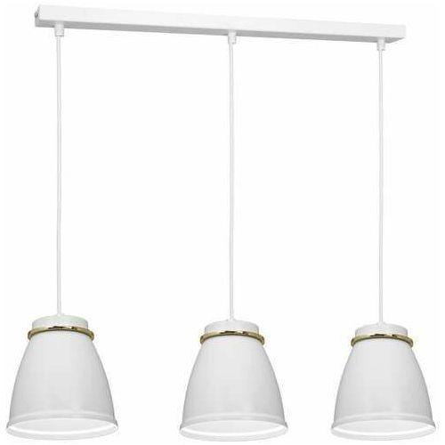 Luminex Lerdo 1943 lampa wisząca zwis 3x60W E27 biała/złota
