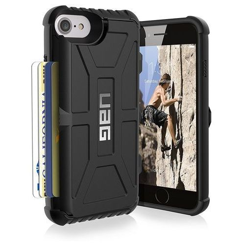 URBAN ARMOR GEAR UAG TROOPER ETUI OCHRONNE Z MIEJSCEM NA KARTY IPHONE 8 / 7 / 6S / 6 (BLACK), kolor czarny
