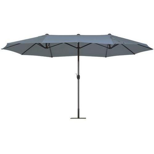 Duży parasol ogrodowy 460 cm - antracytowy SIBILLA (7105271819719)