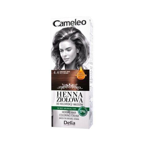 DELIA Cameleo 4.4 Korzenny brąz Henna ziołowa do koloryzacji włosów, kolor brąz