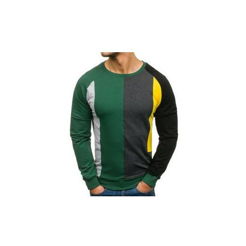 Bluza męska bez nadruku zielona Denley 0751, kolor zielony