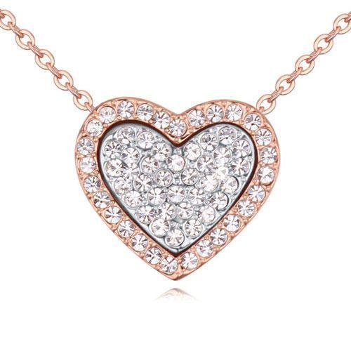 Exclusive naszyjnik pełne serce kryształowy - kryształowy marki Exclusive by milla