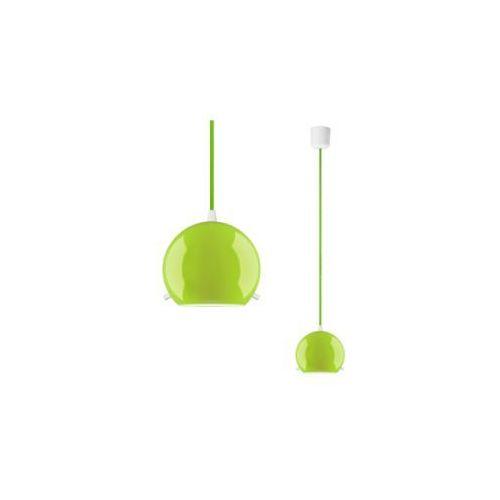 Lampa wisząca myoo elementary 1/s/green/opal szklana oprawa zwis kula zielony marki Sotto luce