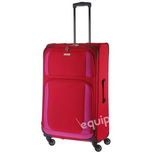 Walizka duża paklite rocco - czerwony/różowy marki Travelite
