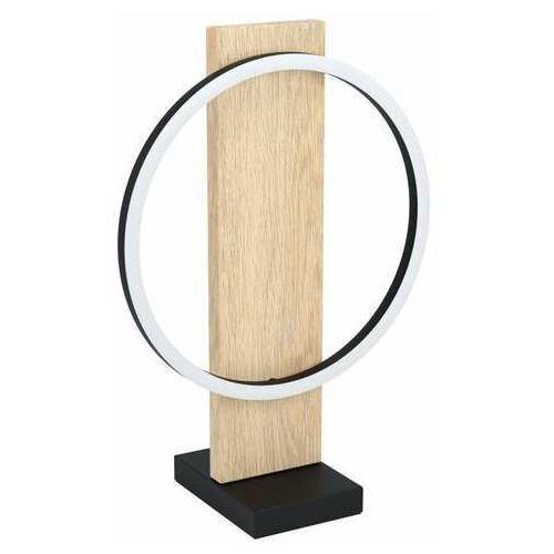 Eglo boyal 99469 lampa stołowa lampka 1x12w led czarna/brązowa (9002759994693)