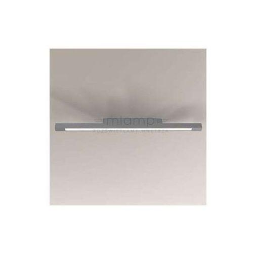 Plafon LAMPA sufitowa OTARU 1200/LED/SZ Shilo natynkowa OPRAWA prostokątna LED 33W listwa szara