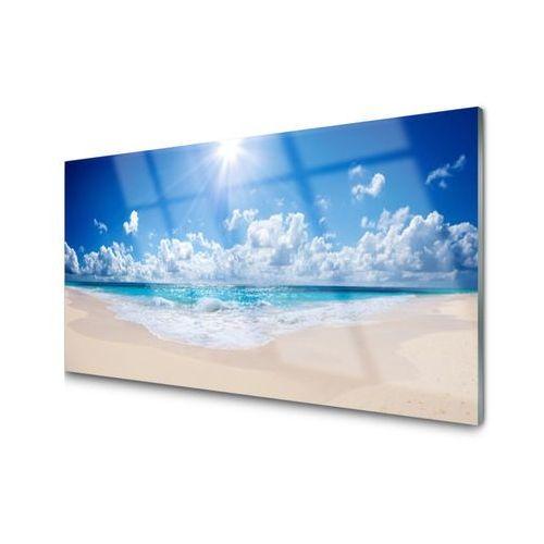 Panel szklany plaża morze słońce krajobraz marki Tulup.pl