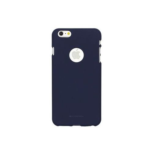 Apple iphone 6 - etui na telefon soft feeling - granatowy marki Mercury goospery
