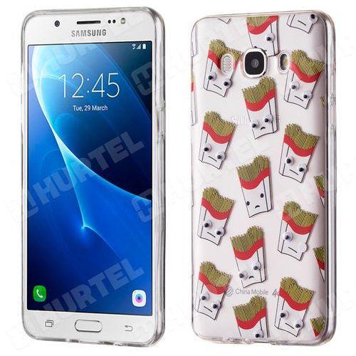 Żelowy pokrowiec etui oczy Googly Eyes Samsung Galaxy J5 2016 J510 frytki przezroczysty - frytki, kup u jednego z partnerów