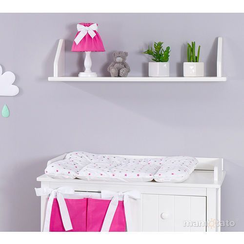 przewijak na komodę gwiazdki szare i różowe marki Mamo-tato